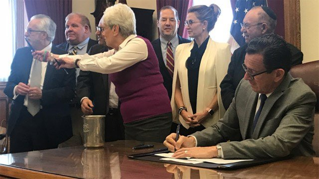 Gov. Dannel Malloy signed a bill requiring the holocaust to be taught in Connecticut public schools. (Gov. Malloy)