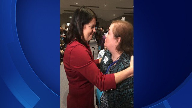 Mary Glassman (left) was endorsed by Democrats for 5th Congressional District (WFSB)