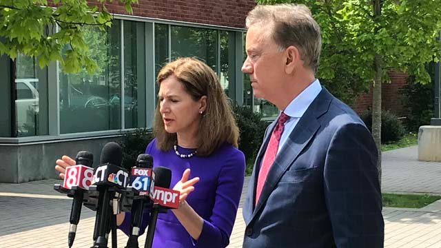 Susan Bysiewicz joins Ned Lamont's gubernatorial campaign as his running mate. (WFSB)