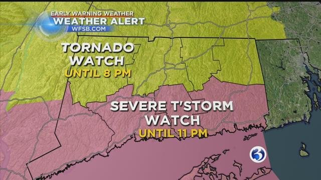 Tornado Watch issued for half of NJ on Saturday night