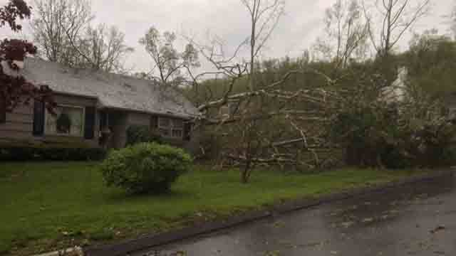 Damage spotted in Brookfield (WFSB)