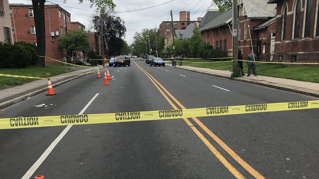 Asylum and Sigourney streets are impacted by a police-involved shooting, police said. (Hartford police)