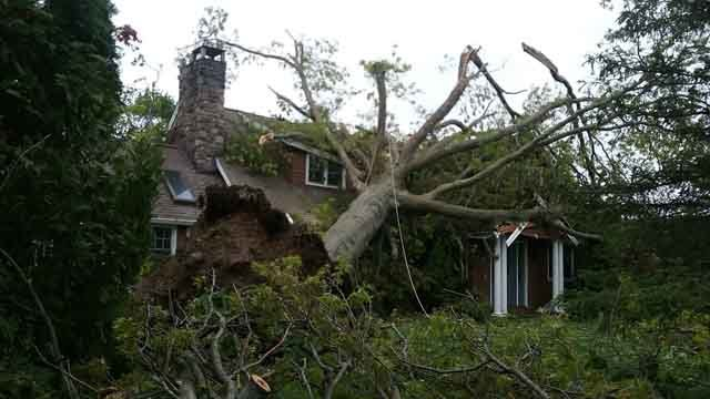 Damage on Skyline Drive in Brookfield (Timothy Angevine)