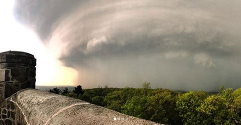 Hailey Wilson took this picture while stuck at Sleeping Giant State Park during Tuesday's storms