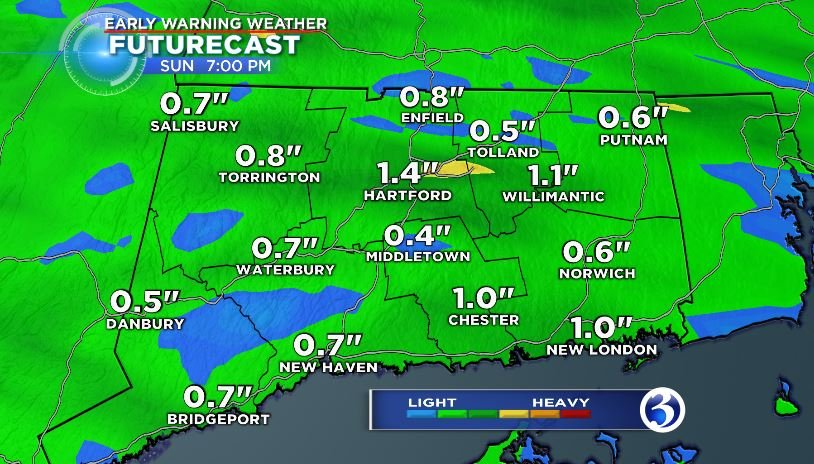 Expected rainfall totals (WFSB)