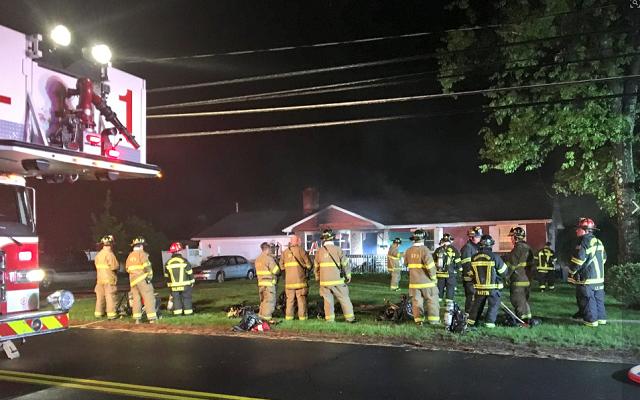 Crews battle fire at Southington home (WFSB)