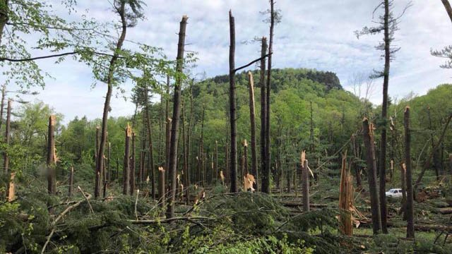 Sleeping Giant State Park won't open until the fall due to storm damage, its park association said. (Facebook)
