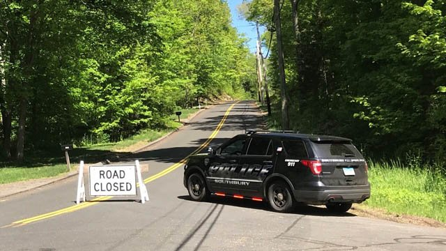Purchase Brook Road in Southbury was closed on Monday because of a standoff situation. (WFSB)