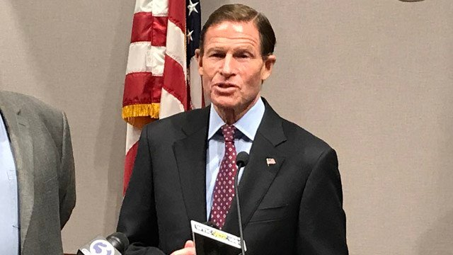 Sen. Richard Blumenthal asked Eversource on Monday to reconsider a rate hike request. (WFSB)