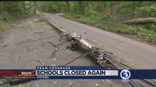 VIDEO: Week after tornadoes, Oxford among schools still closed