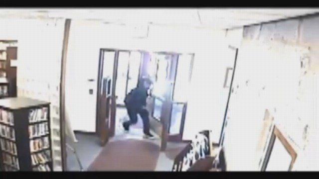 LIBRARY SURVEILLANCE: Derby police seek information on chase that led men into library