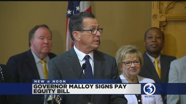 VIDEO: Gov. Malloy signs pay equity bill