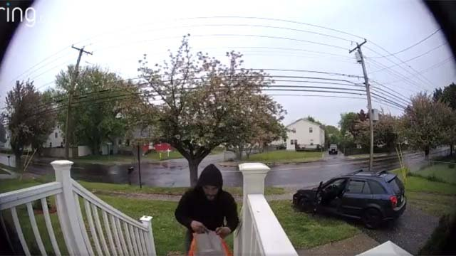 Stratford police are looking to identify this man accused of stealing packages (Stratford Police)