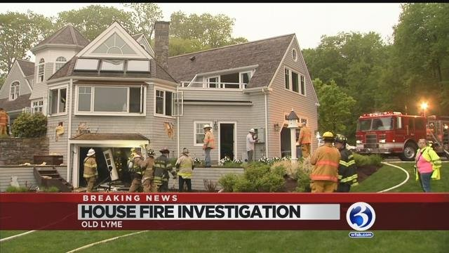VIDEO: Lightning blamed for house fire in Old Lyme