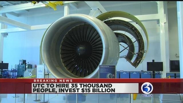 VIDEO: UTC to hire thousands, invest billions between now and 2022
