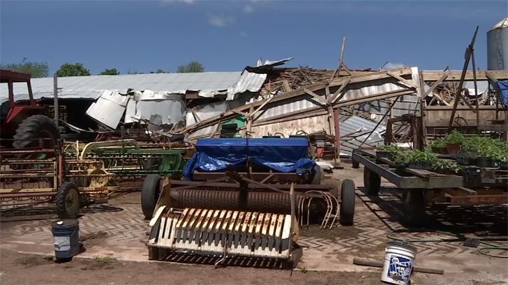 A Wallingford farm is rebuilding after last week's storm destroyed it (WFSB)
