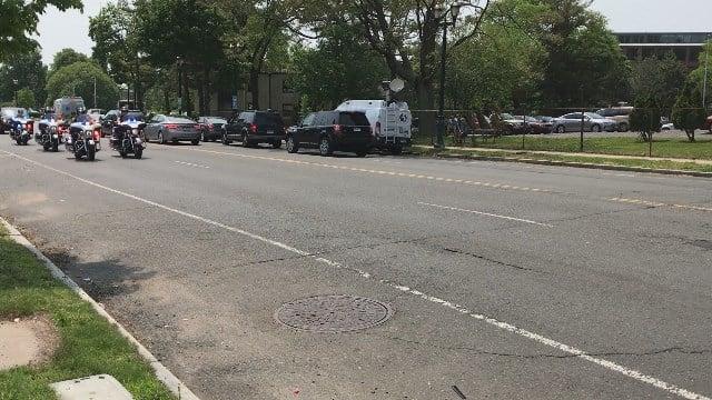 VIDEO: Police escort arrives to Hartford Hospital