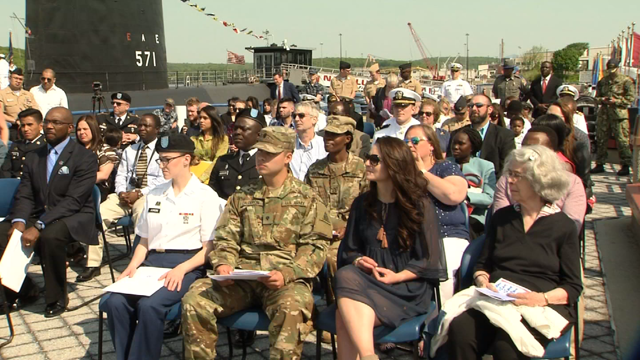 Local military members became US citizens during a ceremony in New London (WFSB)