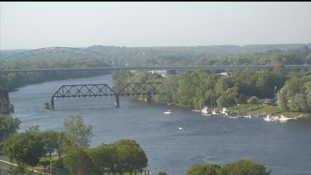 A look at the CT River in Middletown on Friday evening. (WFSB)