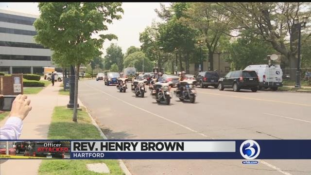 Video: Hartford officer stabbed in the neck released from hospital