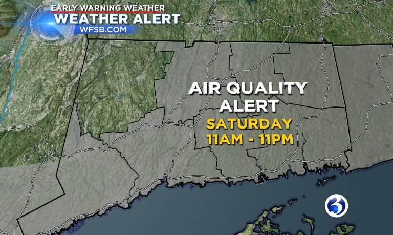 An air quality alert is in effect from 11 a.m. to 11 p.m. on Saturday (WFSB)