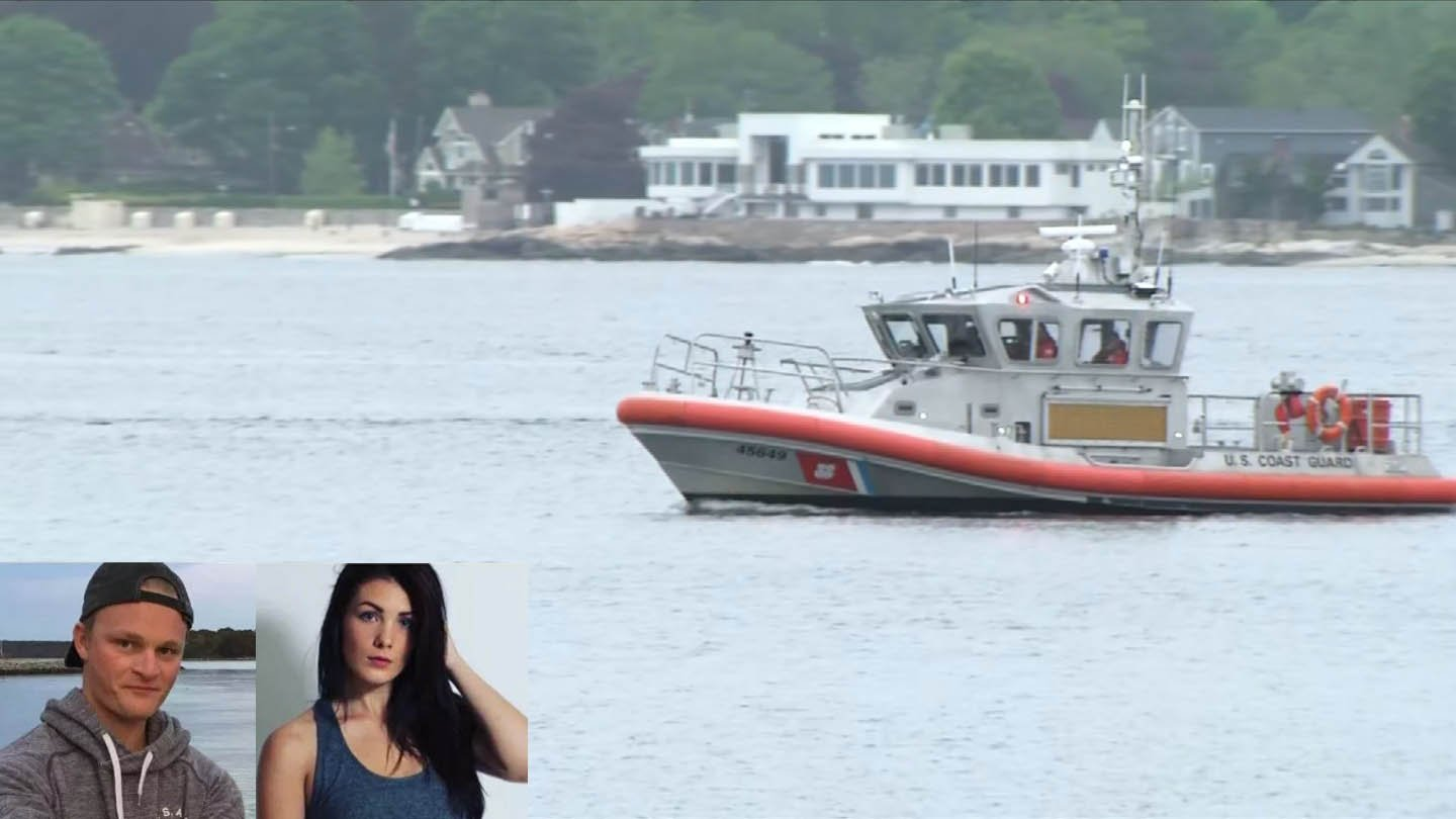 The U.S. Coast Guard continued to search for Spencer Mugford, 21, and his girlfriend, Sofia McKenna, 20, on Monday morning near Avery Point. (Coast Guard/WFSB)