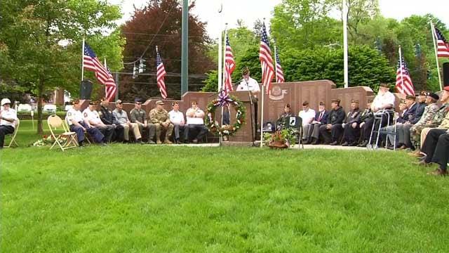 Memorial Day ceremony held in Avon on Monday (WFSB)