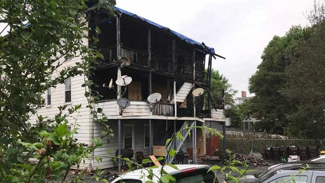 The damage seen at a home in Middletown after a morning fire (WFSB)