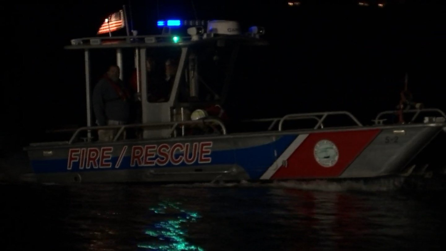 Crews searched for an 18-year-old kayaker whose boat was found at the mouth of the Connecticut River in Old Saybrook. (WFSB)