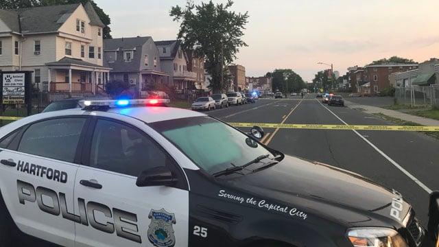 A police investigation is underway on Wethersfield Avenue in Hartford. (WFSB)
