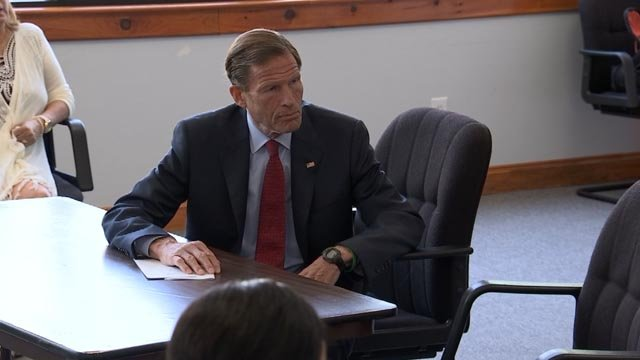 Senator Richard Blumenthal is calling for action following a study about hurricane-related deaths (WFSB)