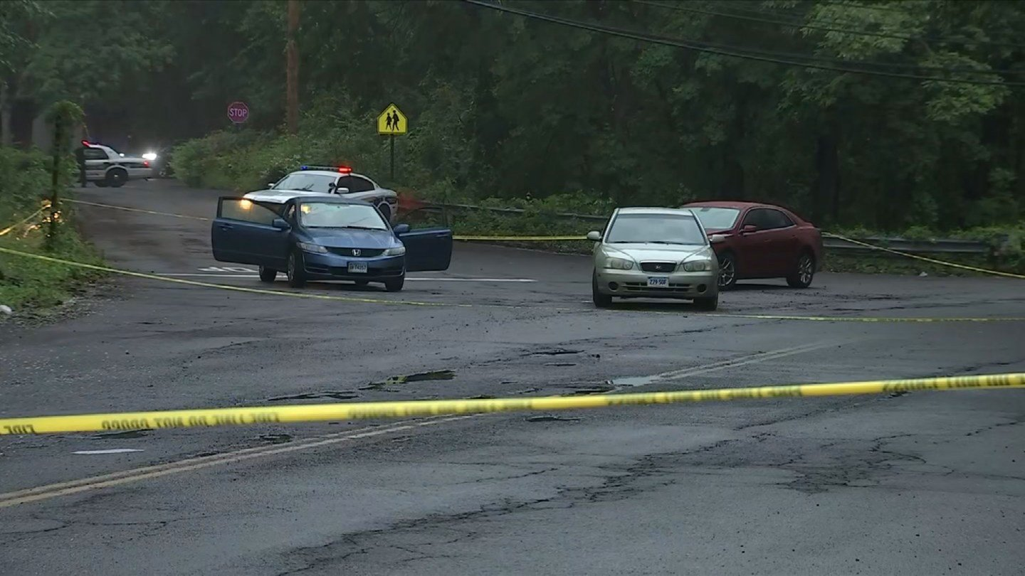 A woman was shot and killed on Wilmot Road in New Haven Thursday night. (WFSB)
