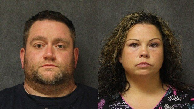 Richard Signor and Melissa Marti-Signor are accused of taking thousands of dollars and not completing remodeling work in Ansonia. (Ansonia police)