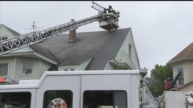 Firefighters responded to a fire on Sisson Avenue Monday afternoon. (WFSB)