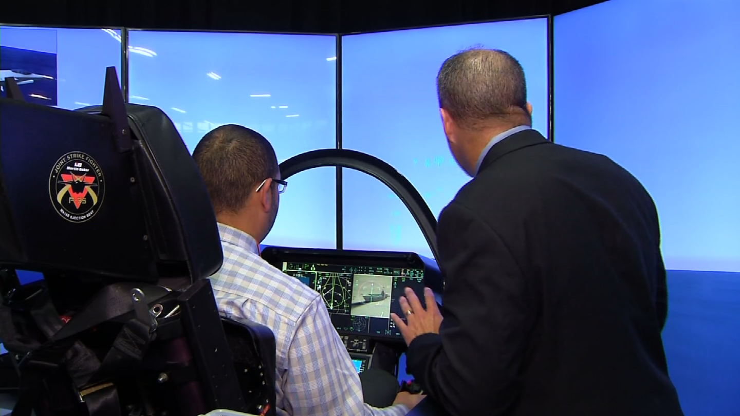 A Manchester facility got a demonstration on the F-35 Lightning II (WFSB)