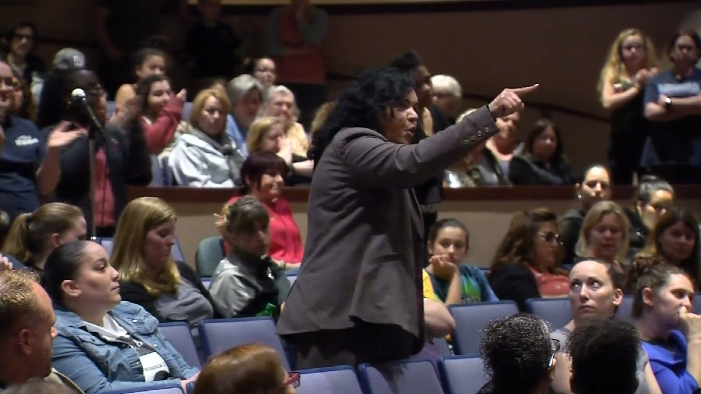 Parents accused city officials of playing with money during a financial dispute that's threatening to close Ansonia schools. (WFSB)