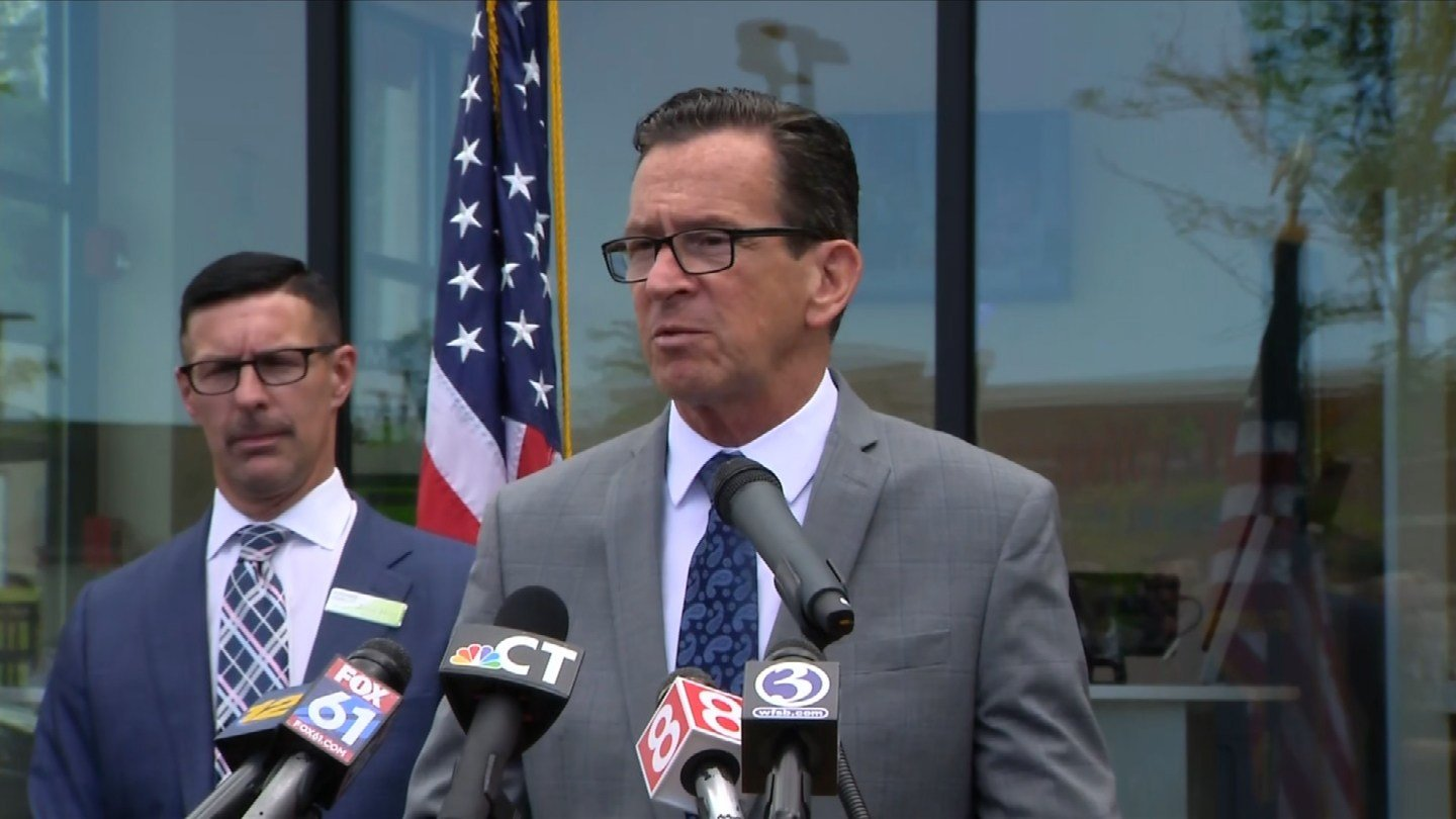 Gov. Dannel Malloy announced a second DMV satellite location, this time in Milford. (WFSB)