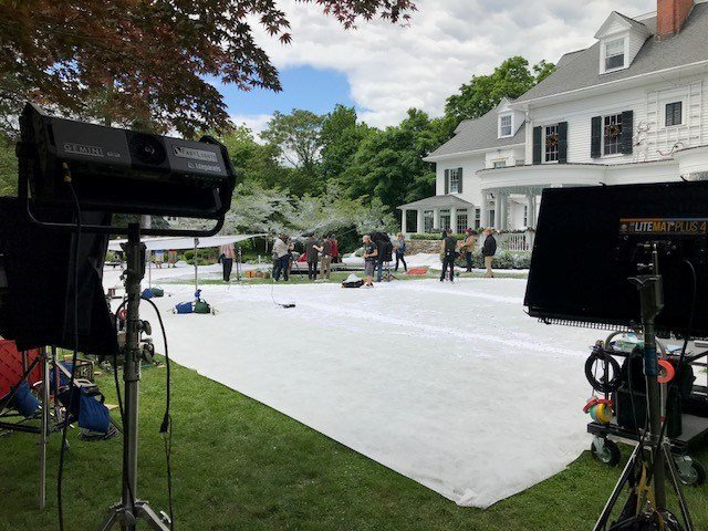 A Christmas movie is being shot in Old Lyme this week (WFSB)