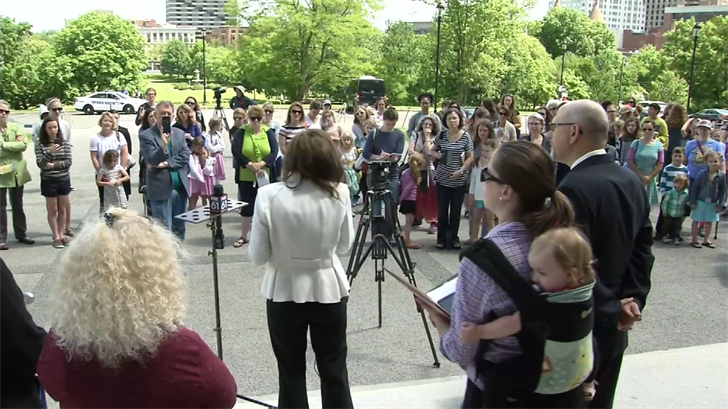 Rally held to support homeschooling after the death of an autistic teen (WFSB)