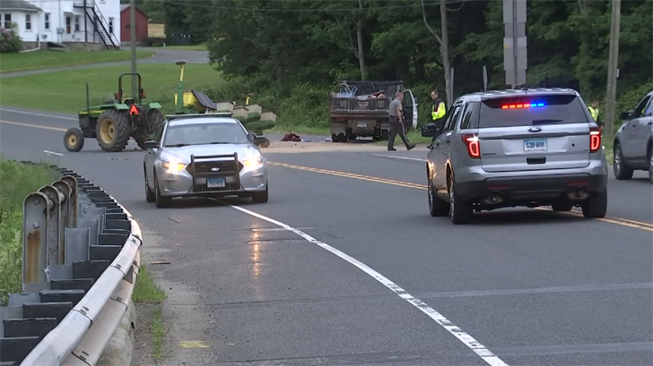 The owner of Logue Farm in Woodbury was seriously hurt in a crash on Route 6. (WFSB)
