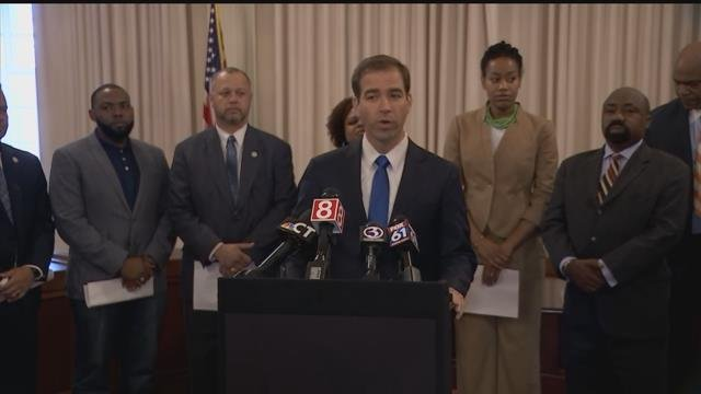 Hartford Mayor Luke Bronin on Friday outlined some plans to stem recent violence in the capital city. (WFSB)
