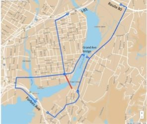 Map of alternate routes (City of New Haven)