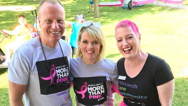 Scot and Irene were there in support of the More Than Pink Walk (WFSB)