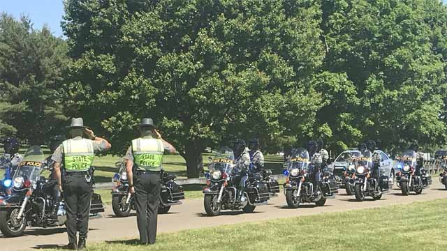 Hundreds were expected to attend the funeral for Trooper Walter Greene (WFSB)