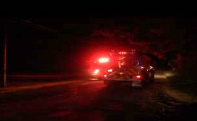 Crews shuttling water down to the fire scene. (WFSB)