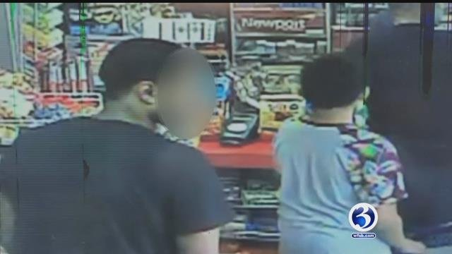 Surveillance video taken from carjacking in New Britain (submitted)
