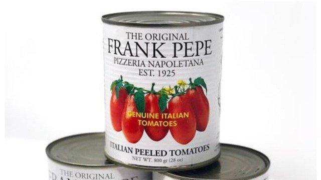 Cans of tomatoes used to make the famous Pepe's pizza sauce can now be bought by customers (pepespizzeria.com)