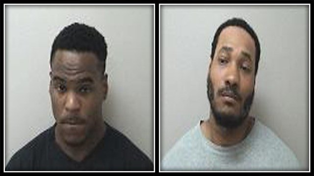 Corey Menefee (left) and Latravis Moore (right) were arrested for having drugs in their car (Manchester PD)