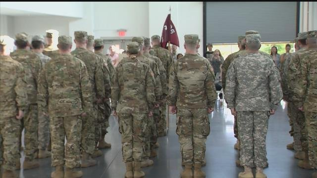 Members of the CT Army National Guard Charlie Company, 3rd Battalion, 126th Aviation Regiment departed in preparation for a tour in southwest Asia on Thursday. (WFSB)