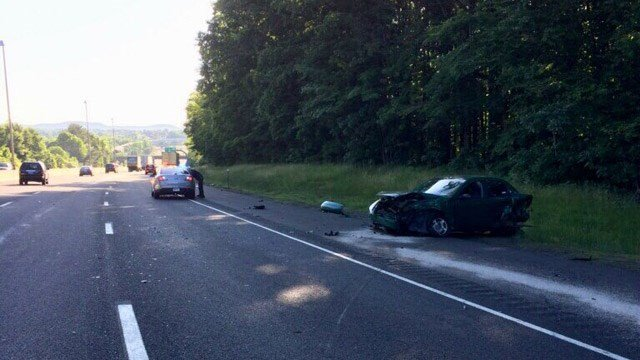 A crash caused 7 miles of backup on I-84 east in Cheshire Thursday morning. (State police)